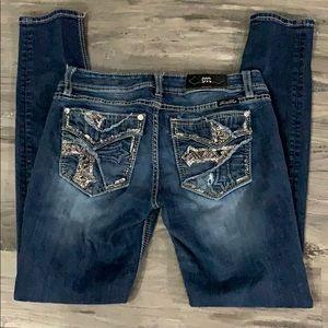 Miss Me jeans signature skinny size 28 dark wash